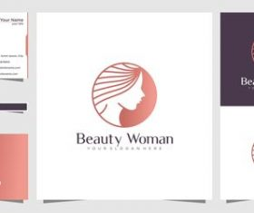 Cover logo design beautiful woman vector
