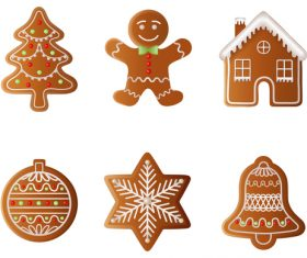 Creative christmas gingerbreads vector