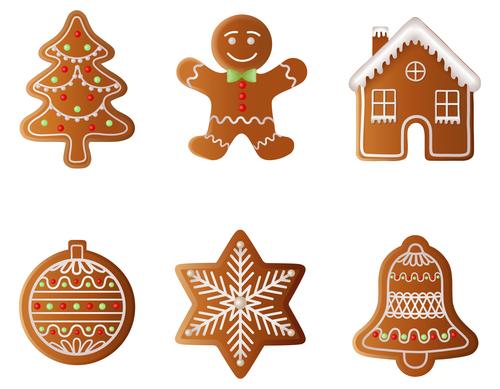 Creative christmas gingerbreads vector