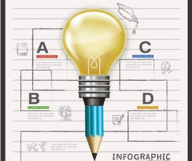 Creative infographic options vector