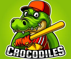 Crocodiles sports icon vector