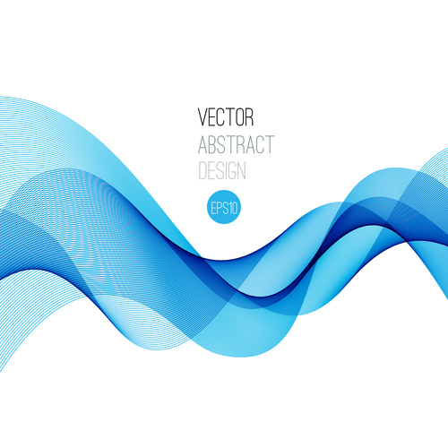Cross blue flowing abstract background vector