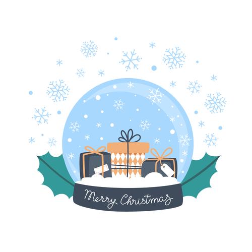 Crystal gift illustration vector