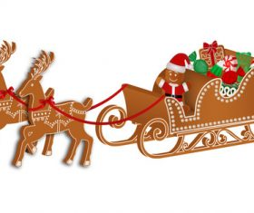 Cute Christmas gingerbreads pattern vector