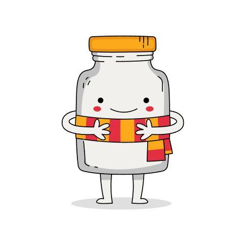 Cute bottle cartoon vector