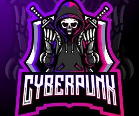 Cyberpunk esport icon vector
