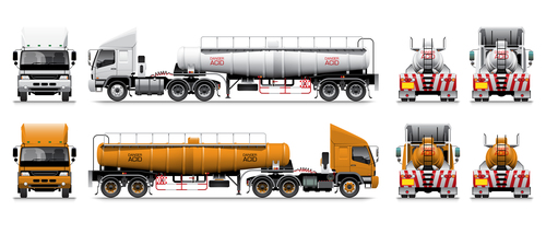 Dangerous chemical transport vehicle vector