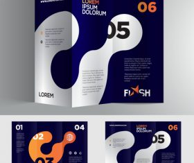 Dark blue company brochure vector