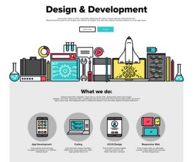 Design development flat graphic concept vector