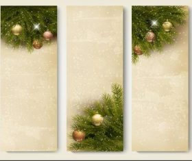 Design snowy christmas banner vector