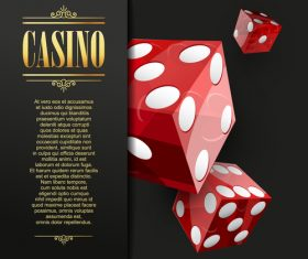 Dice casino templates vector
