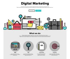 Digital marketing flat graphic concept vector