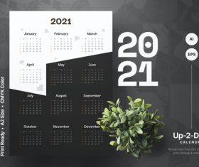 Divider calendar 2021 vector