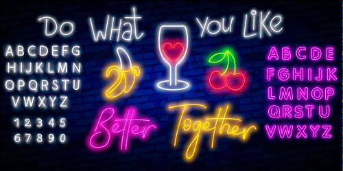 Do what you like neon font vector