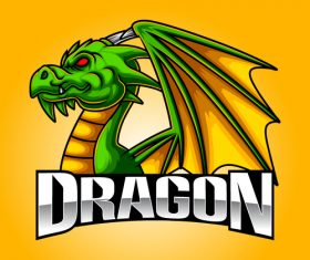 Dragon esport icon vector