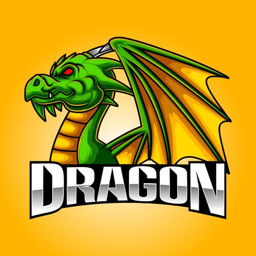 Dragon esport icon vector