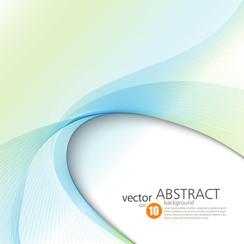 Dynamic arc abstract background vector