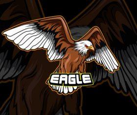 Eagle sports logo vector