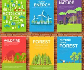 Ecology flyer vector
