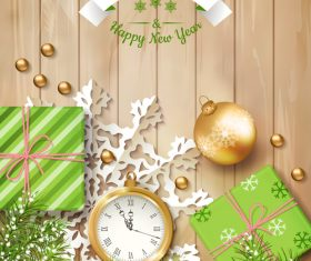 Elegant Christmas exquisite greeting card vector