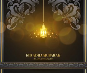 Elegant Eid ADHA mubarak greeting card vector