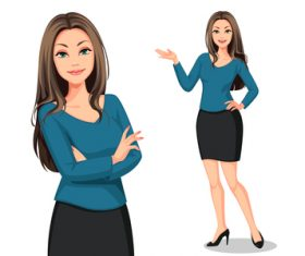 Elegant woman vector