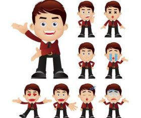 Enrich emoji young man vector