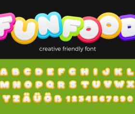 Entertainment Vector Font Friendly Funny Kids