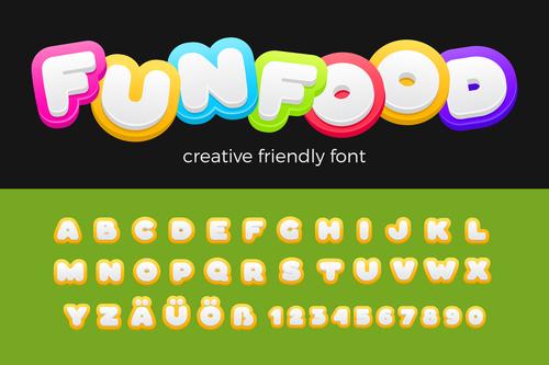 Entertainment Vector Font Friendly Funny Kids