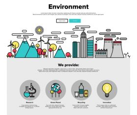 Environment flat graphic concept vector