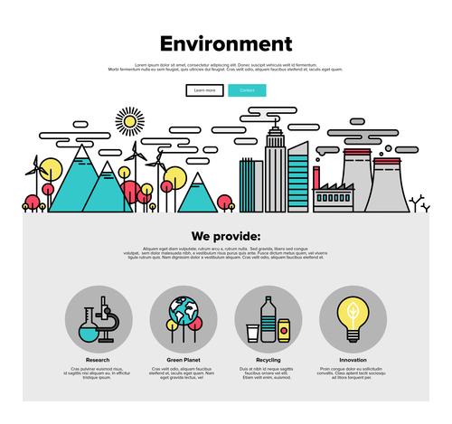 Environment flat graphic concept vector