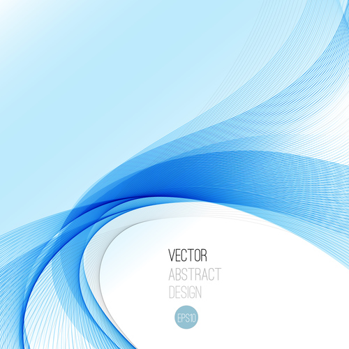 Fan shaped blue abstract background vector