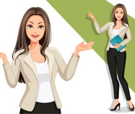 Female CEO vector