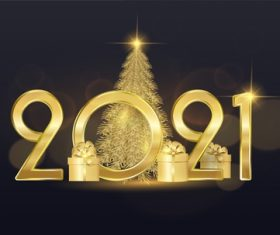 Festive design inscription 2021 New Years illustrations vector