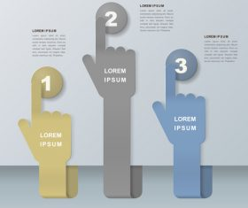 Finger symbol information background vector