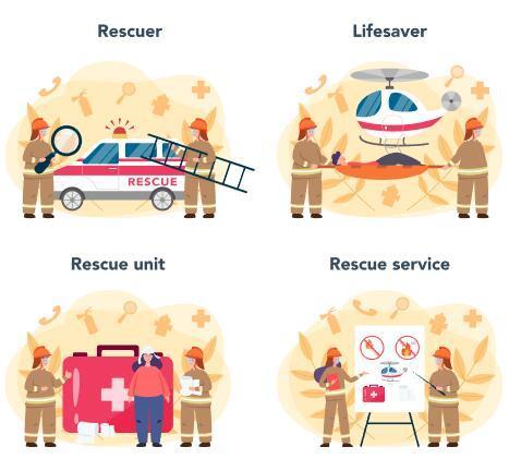 Fireman cartoon illustration vector