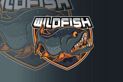 Fishing sport logo vector