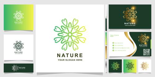 Flower cover company logo design vector