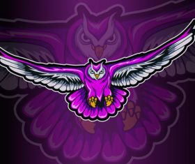 Flying bird sports and esports logo vector