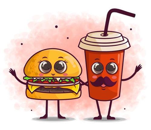 Food cartoon icon vector