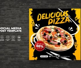Food vector menu and delicious best pizza