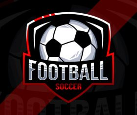 Football sport logo vector