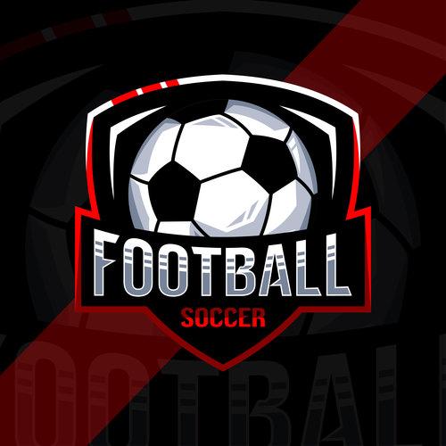 Football sport logo vector