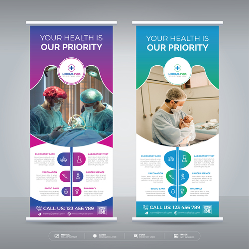 For your health medical flyer vector
