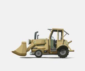 Forklift cartoon illustration vector