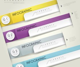 Four color business infographic element options vector