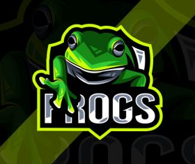 Frogs esport logo vector