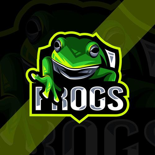 Frogs esport logo vector