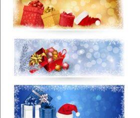 Frost flower background christmas gift banner vector