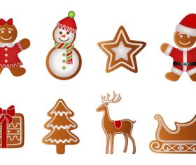 Funny christmas gingerbreads pattern vector